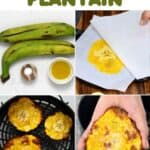 steps to making baked green plantains