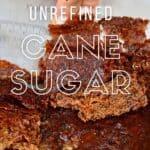 Homemade unrefined cane sugar