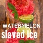 Watermelon granita servings