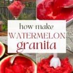 How to make watermelon granita