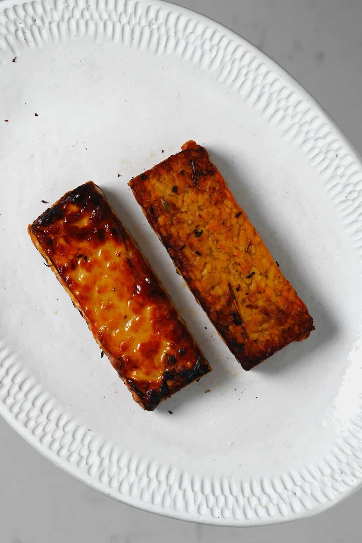 Pan-fried tempeh