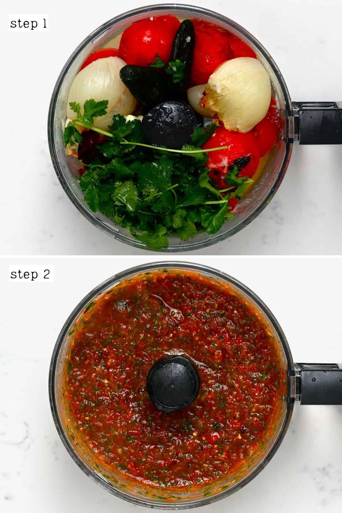 Preparing roasted tomato salsa