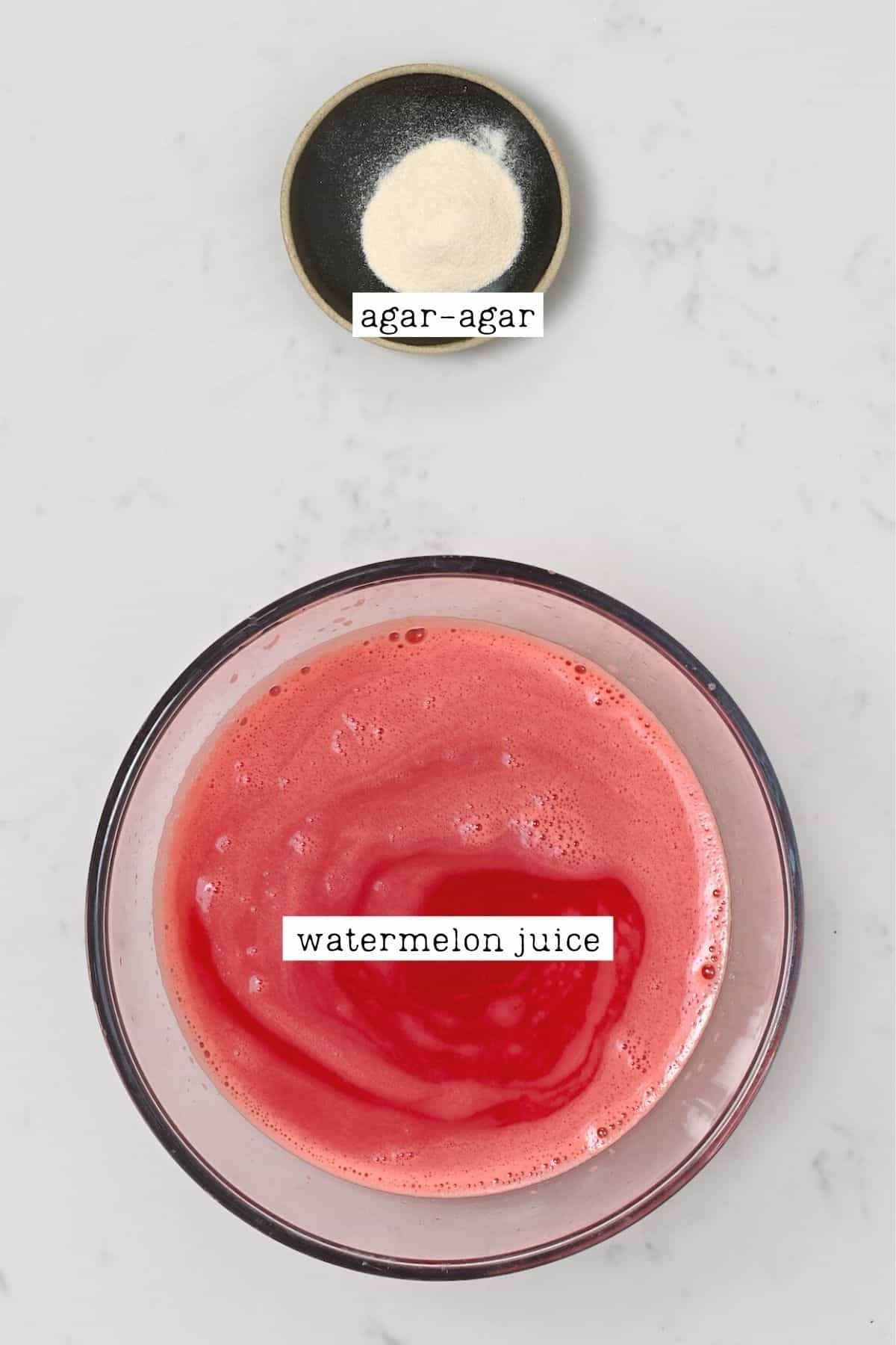 Ingredients for watermelon jelly