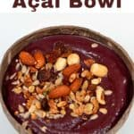 Acai bowl topped with nuts