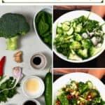 Steps for making broccoli salad