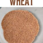 Homemade bulgur wheat
