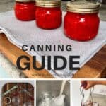 Steps to water bath canning at home