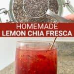Chia seeds and homemade lemon chia fresca