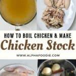 Steps to make Homemade chicken stock