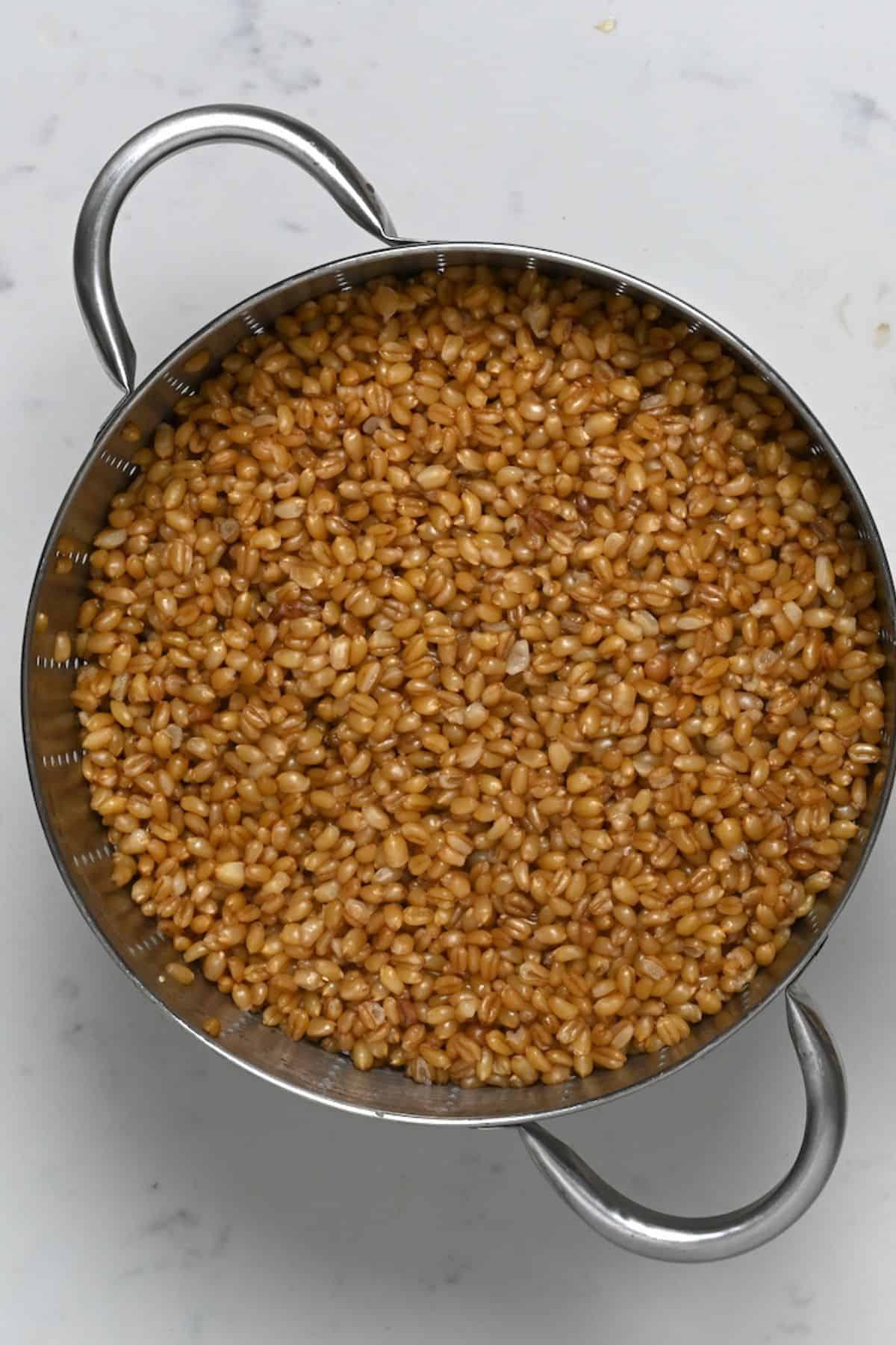 Cooked bulgur wheat