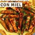 Eggplant fries with honey