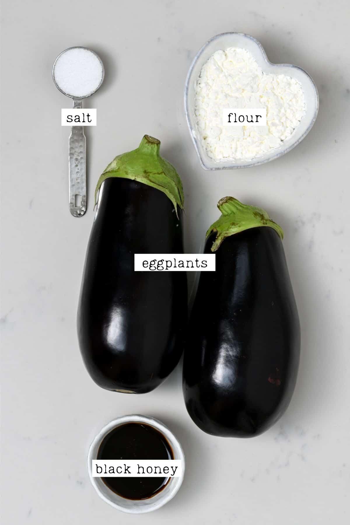 Ingredients for eggplant fries