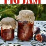 Two jars with homemade fig jam