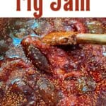 Homemade fig jam in a saucepan