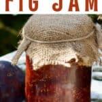 Homemade fig jam in a jar