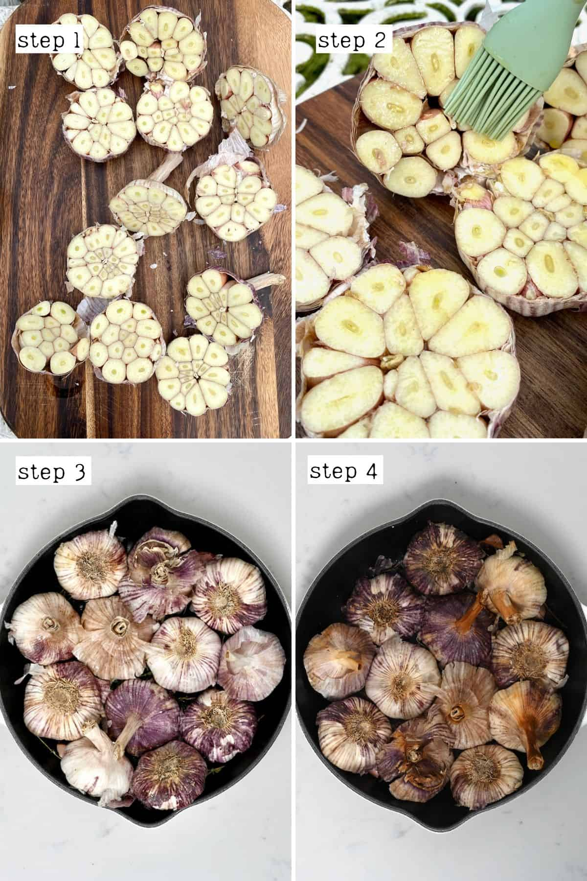 Steps for roasting garlic