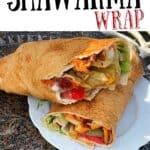 Mushroom shawarma wrap