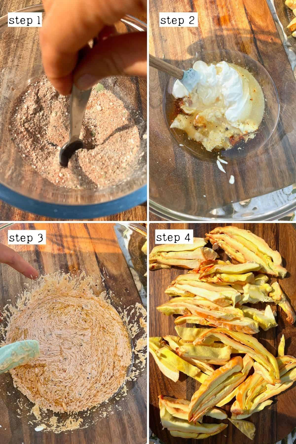 Steps for preparing mushroom shawarma