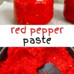 Steps for making red chili paste