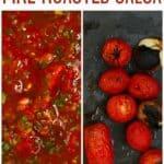 Roasted tomato salsa and roasted tomatoes