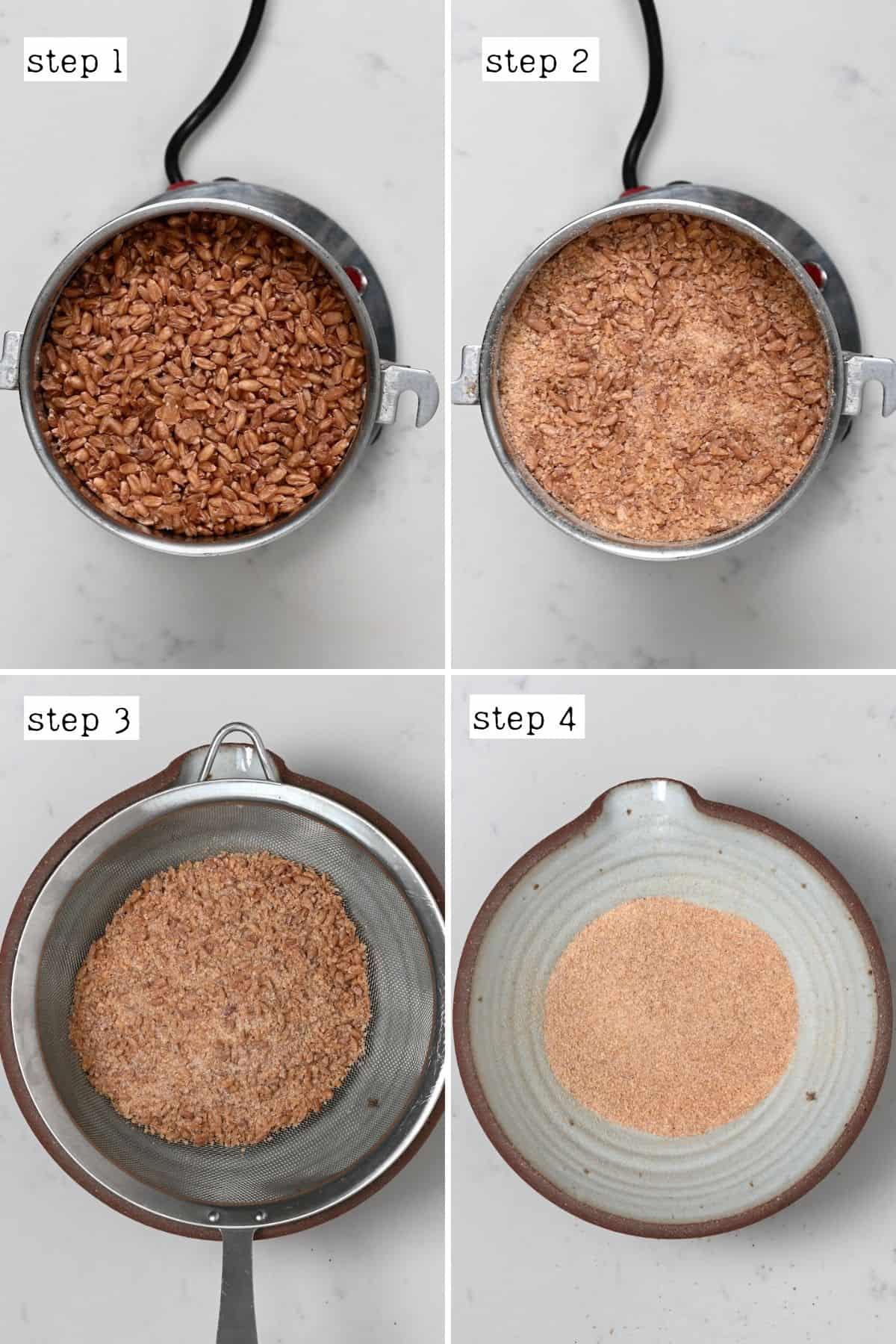 Steps for sieving bulgur wheat
