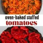 Rice mix and cored tomatoes to make Stuffed Tomatoes