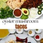 Vegan Birria Tacos with oyster mushroom