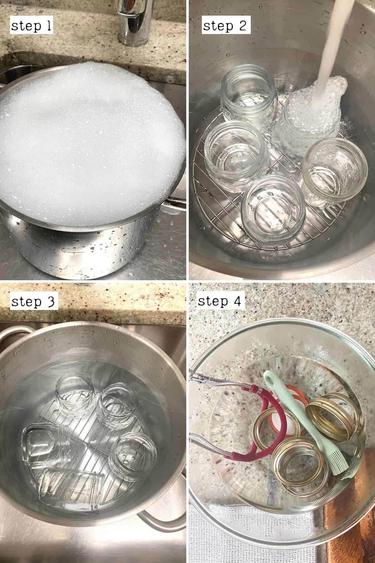 Steps for sterilizing jars