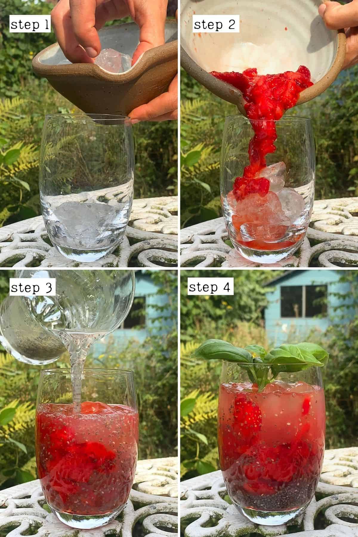 Steps for preparing chia energy drink