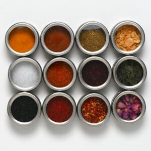 Magnetic Spice Tins, Set of 12