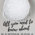 Fizzing baking soda in a bowl