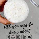 Fizzing baking powder in a bowl
