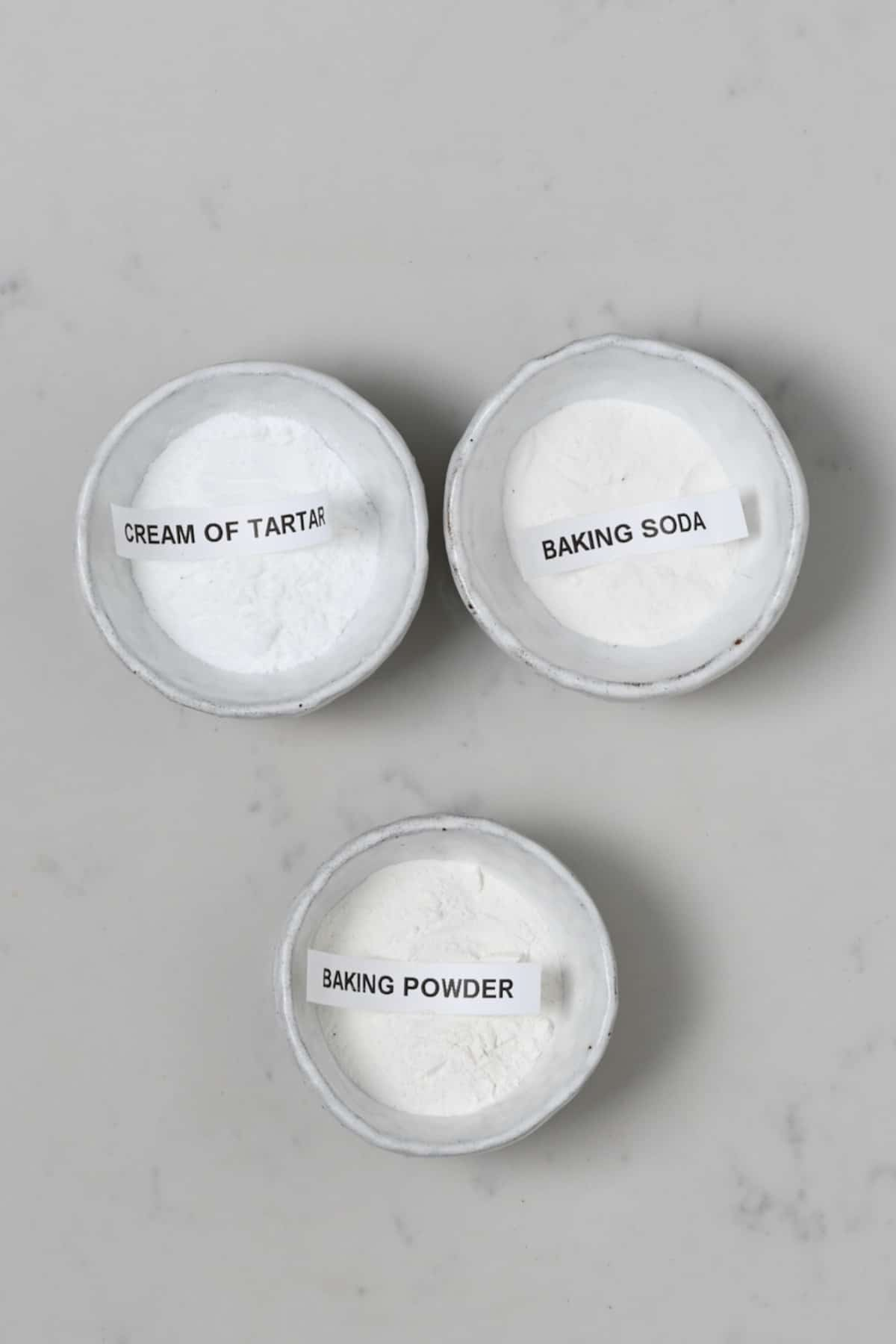 Baking soda and cream of tartar and baking powder