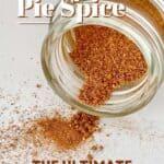 A spice jar with homemade pumpkin pie spice